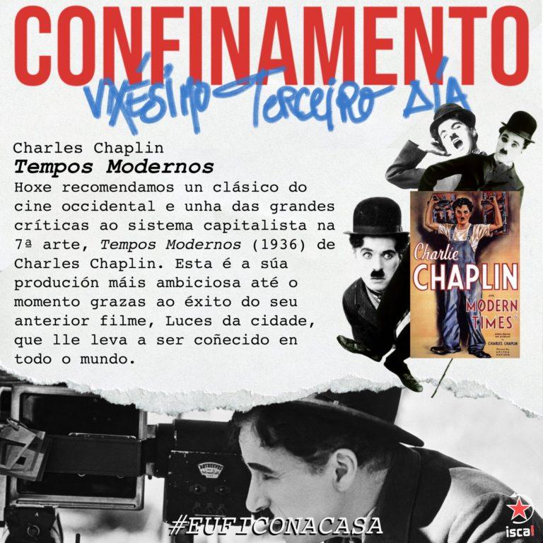 Confinamento Tempos modoernos Charles Chaplin